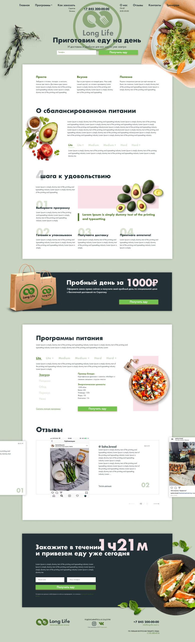 Сайт здорового питания
